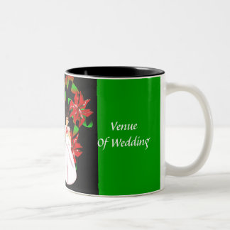 Kerstmis/Mok van de Douche van het Huwelijk van De Tweekleurige Mok