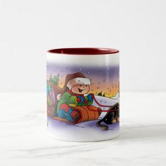 Kerstmis Mug_Full van Sevigny_Cute Tweekleurige Koffiemok