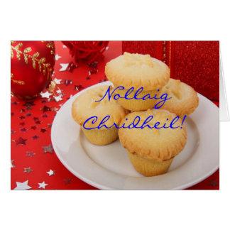 Kerstmis Nollaig Chridheil Wenskaart