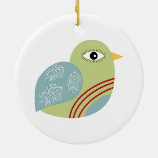 Kerstmis Patridge Rond Keramisch Ornament