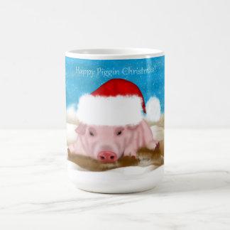 Kerstmis Piggin van de Mok van de gift Gelukkige -