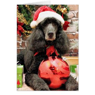 Kerstmis - Poedel - Lelie Notitiekaart