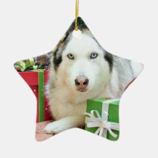 Kerstmis - Siberische Schor - Juliet Keramisch Ster Ornament