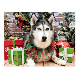 Kerstmis - Siberische Schor - Nika Briefkaart