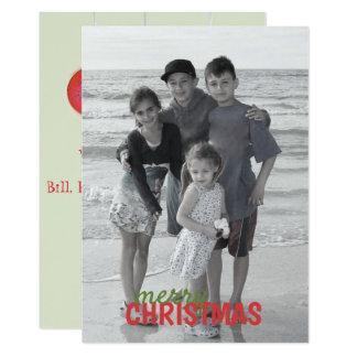 Kerstmis siert de Tweezijdige Kaart van de Foto