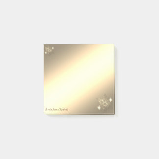 Kerstmis, sneeuwvlok-Gepersonaliseerd Goud Faux Post-it® Notes