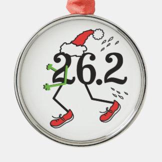 Kerstmis Vakantie 26.2 Grappige Marathon 26 Agent Zilverkleurig Rond Ornament