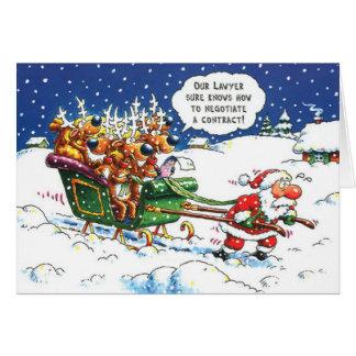 Kerstmis van advocaten wenskaart