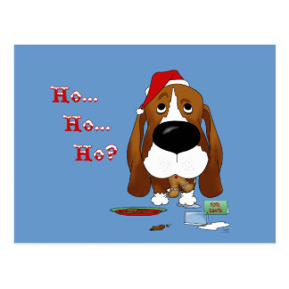 Kerstmis van Basset Hound Briefkaart