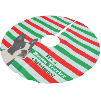 Kerstmis van Boston Terrier Kerstboom Rok