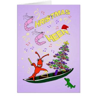 Kerstmis van Cajun van garnalen en van Kaart