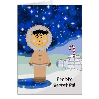 Kerstmis van de douane voor Geheime Vriend, Leuke Kaart