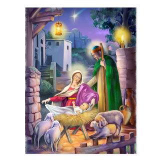 Kerstmis van de geboorte van Christus Briefkaart