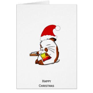 Kerstmis van de hamster briefkaarten 0