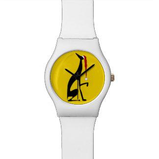 Kerstmis van de Hond van de windhond Gele Gewaagde Horloge