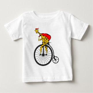 Kerstmis van de Kerstman van de giraf Baby T Shirts