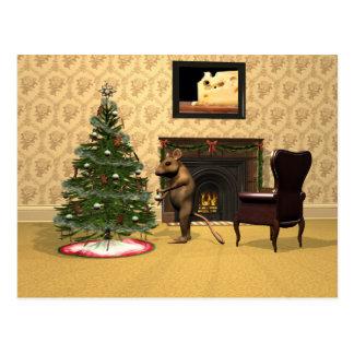 Kerstmis van de muis briefkaart