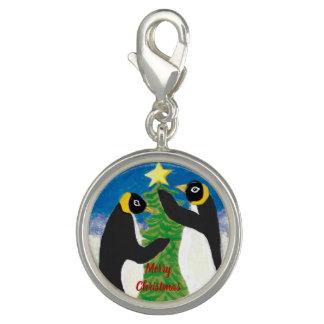 Kerstmis van de pinguïn om Charme, verzilvert Foto Charm