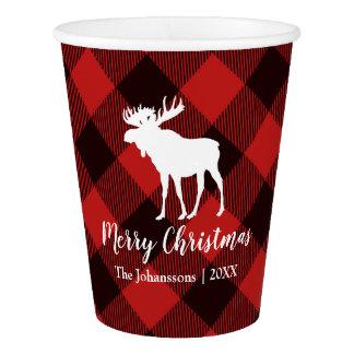 Kerstmis van de Plaid van Amerikaanse elanden en