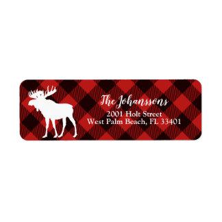Kerstmis van de Plaid van Amerikaanse elanden en Etiket