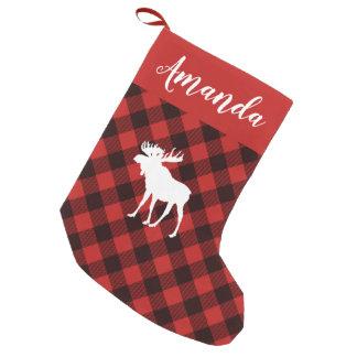 Kerstmis van de Plaid van Amerikaanse elanden en Kleine Kerstsok