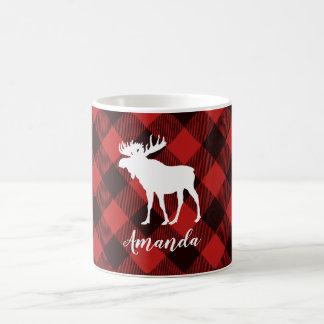 Kerstmis van de Plaid van Amerikaanse elanden en Koffiemok