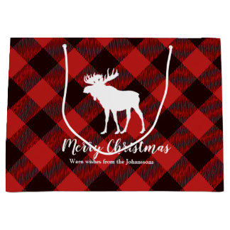 Kerstmis van de Plaid van Amerikaanse elanden & Groot Cadeauzakje