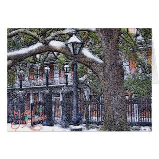 Kerstmis van de Sneeuw van Jackson Vierkante Kaart