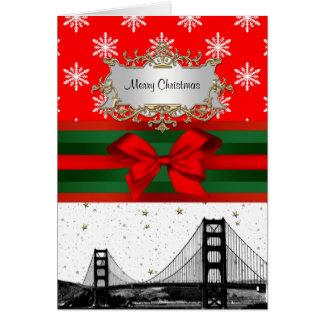 Kerstmis van de Sneeuwvlok van de Horizon van San Kaart