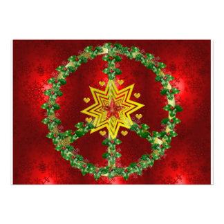 Kerstmis van de Ster van de vrede Gepersonaliseerde Uitnodigingen
