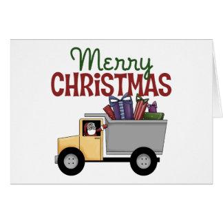 Kerstmis van de vrachtwagenchauffeur wenskaart