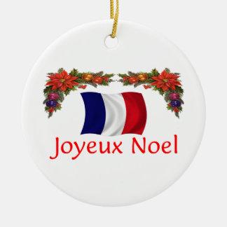 Kerstmis van Frankrijk Rond Keramisch Ornament