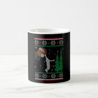 Kerstmis van het basketbal koffiemok
