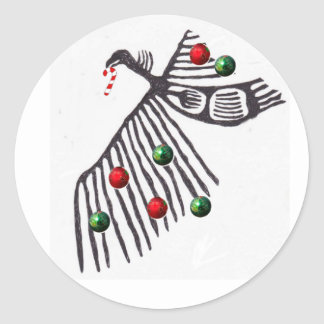 Kerstmis van het gierheiligdom juicht toe ronde sticker
