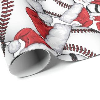 Kerstmis van het honkbal met de Petten van de Cadeaupapier