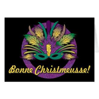 Kerstmis van het Masker van Gras van Mardi - Cajun Briefkaarten 0