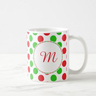 Kerstmis van het Patroon van de Stip van het Koffiemok