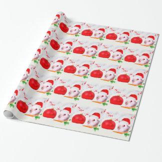 Kerstmis van het proefkonijn inpakpapier
