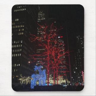 Kerstmis van het rendier steekt de Stad Manhattan Muismat