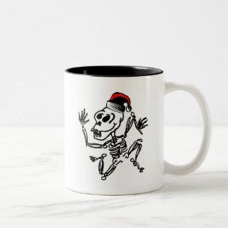 Kerstmis van het skelet tweekleurige koffiemok