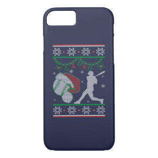 Kerstmis van het softball iPhone 8/7 hoesje