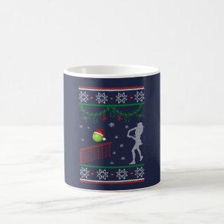 Kerstmis van het tennis koffiemok