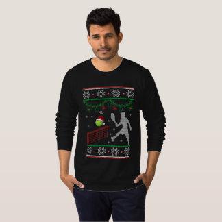 Kerstmis van het tennis t shirt