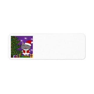 Kerstmis van Meowy Etiket