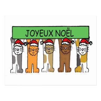 Kerstmis van Noel van Joyeux Franse Gelukkige Briefkaart