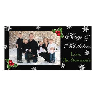 Kerstmis van omhelzingen & Mistletoes Kaart