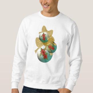 Kerstmis van poinsettia siert Sweatshirt