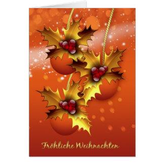 Kerstmis van Weihnachten van Froehliche Modieuze Kaart