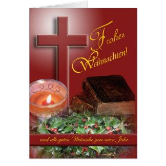 Kerstmis van Weihnachten van Frohes Duitse Kaart