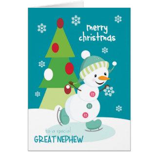 Kerstmis voor de Grote Schaatsende Sneeuwman van Briefkaarten 0